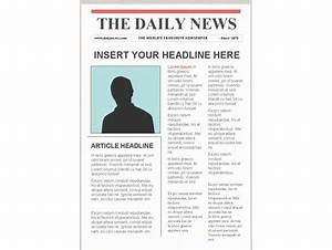 editable newspaper template portrait With create your own newspaper template