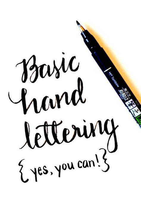 Learn Basic Hand Lettering  Scrap Booking