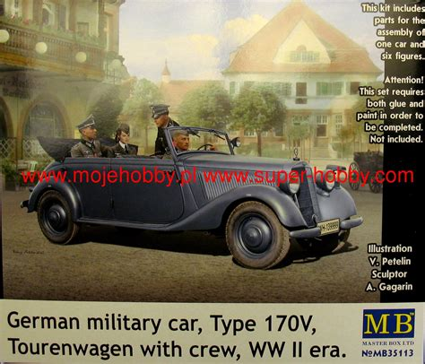 German Military Car, Type 170v, Tourenwagen With Crew, Ww