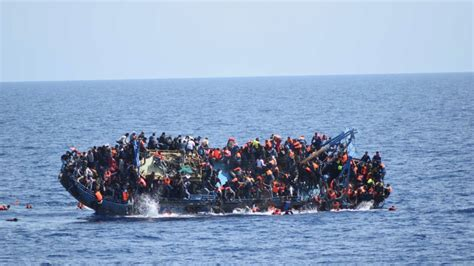 Refugee On Boat by Two Refugee Boats Capsize In 24 Hours Libya Coast