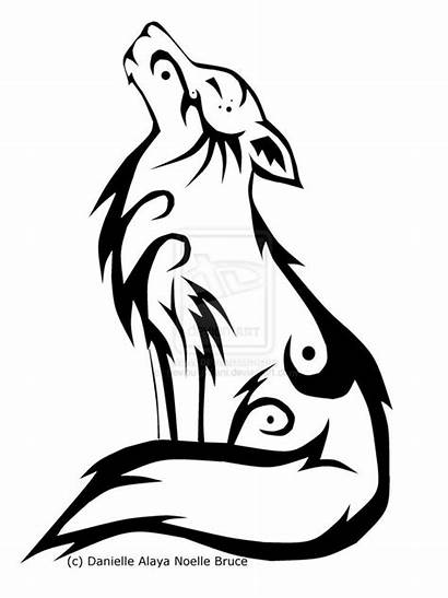 Wolf Realistic Drawing Coloring Tribal Getdrawings