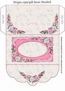 GIFT ENVELOPE MONEY WALLET ROSES for WEDDING BIRTHDAY on Craftsuprint designed by Susan Murdoch