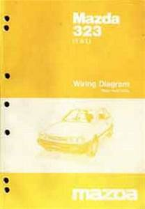 Mazda 323 1985 Factory Wiring Diagram Manual Mazda Motor