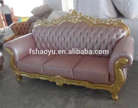 Pink Leather Sofa Set by Pink Leather Classic Wooden Sofa Set Living Room Home