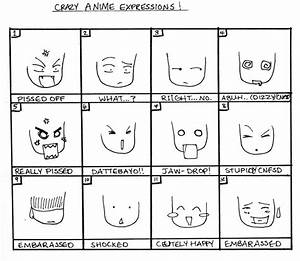 Crazy Anime Expressions by incaseyouart on DeviantArt