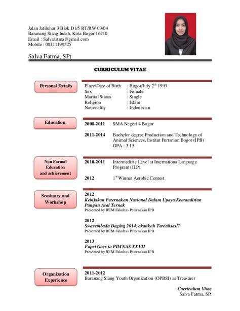 Contoh Cv Yang Lengkap Dalam Bahasa Inggris by Contoh Email Dalam Bahasa Inggris Contoh 36