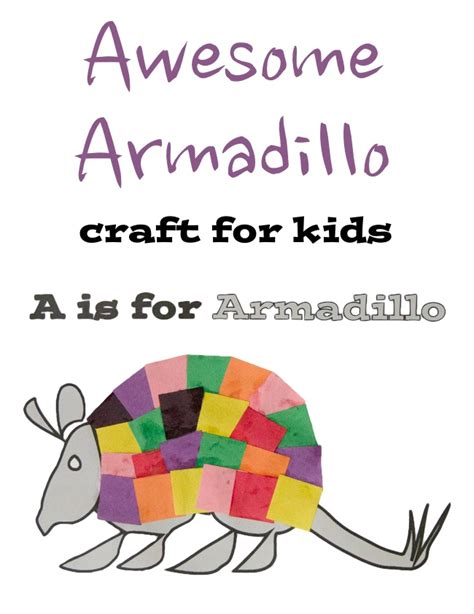 armadillo printable craft  kids artsy