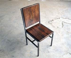 Metal And Woods : hand crafted chair stool made of reclaimed wood and steel ~ Melissatoandfro.com Idées de Décoration