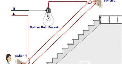 how to control a l light bulb from two places using