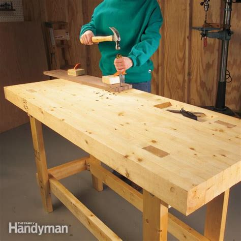 how to make a work table how to build a work bench on a budget