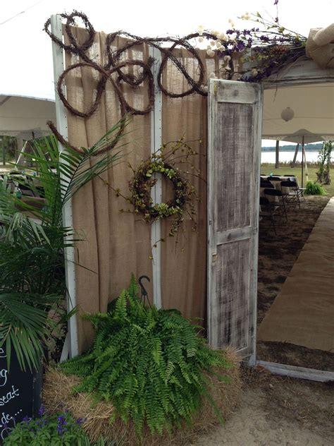 rustic outdoor wedding door bride reveal rustic couple s