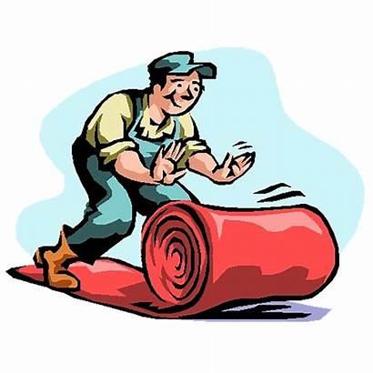 Carpet Clipart Laying Clip Flooring Rolls Floor