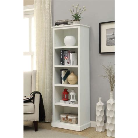 White Bookcase by Home Decorators Collection Amelia White Open Bookcase