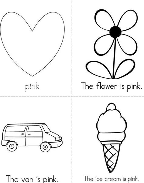 ask the free colour pink worksheet