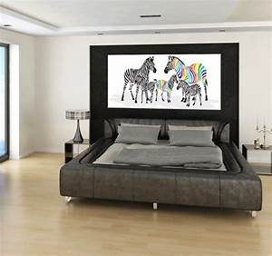Tableau Deco Chambre : colorful zebra family tableau animaux ~ Teatrodelosmanantiales.com Idées de Décoration