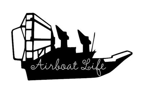 Airboat Silhouette by Airboat Vinyl Decal By Shaelaraedesigns On Etsy