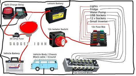 Wireing Diagram For Back Up For Motor Home complete 12v cervan rv motorhome boat wiring