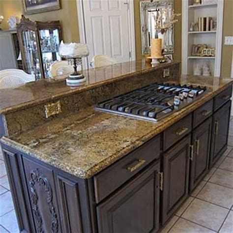 range in island kitchen featuring a built in gas range this island was made for 4494