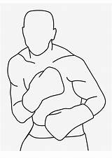 Coloring Boxer Boxing sketch template