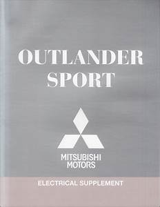 2012 Mitsubishi Outlander Sport Wiring Diagram Manual Original