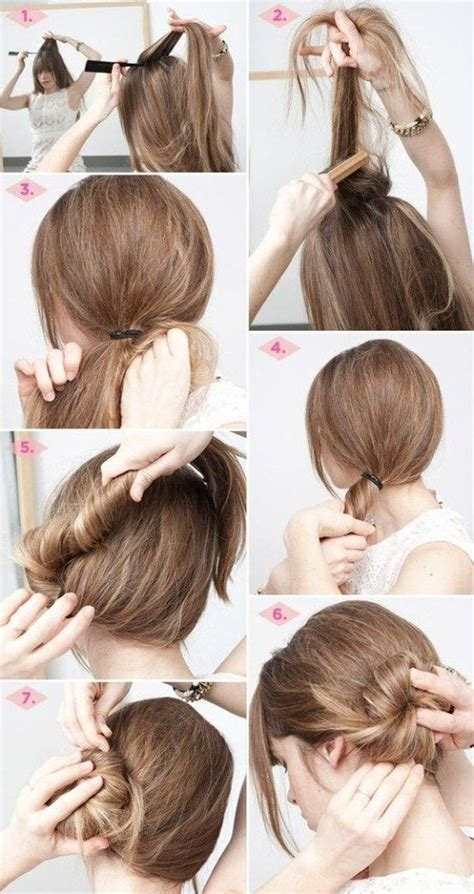 long hair updos steps easy hairstyles step  step