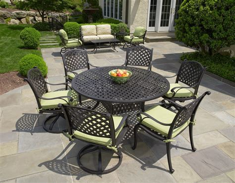 Patio Dining Furniture Sale by Nassau Cast Aluminum 7pc Patio Dining Set With 60 Quot