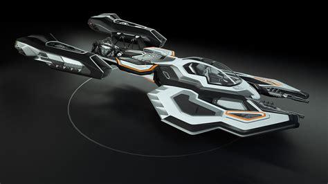 spaceship  concept design  model animated rigged max