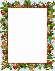 free printable christmas stationery border templates