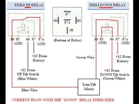 Troubleshooting Bypassing Wiring Spdt Tilt Trim Relay