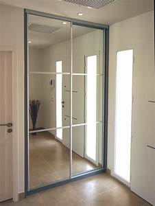 portes de placard pliantes sur mesure 14 porte de With miroir a coller sur porte coulissante