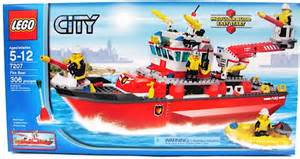 lego city fire boat ship kids building toy