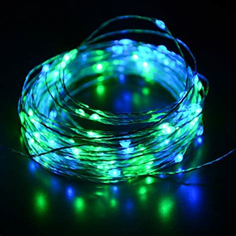 blue and green lights hahome starry 100 leds 33 usb string lights with