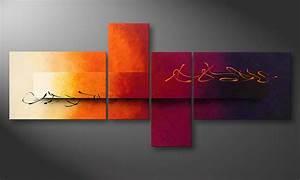 Tableau Moderne Salon : le tableau pour salon day and night 200x90cm ~ Teatrodelosmanantiales.com Idées de Décoration