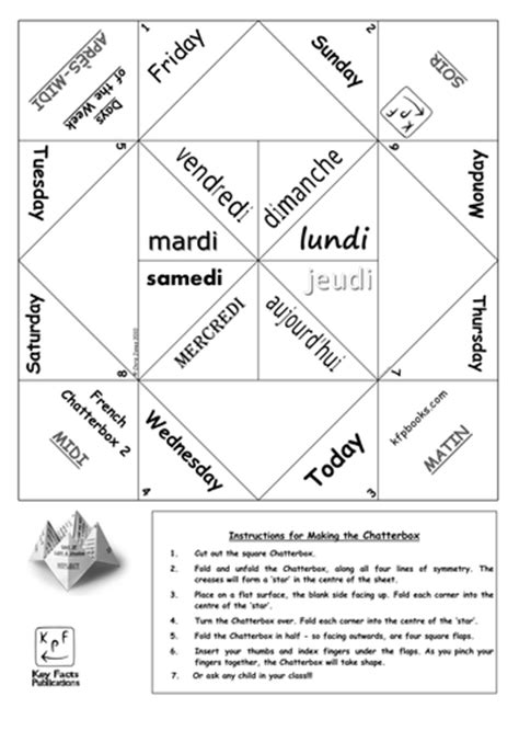 french days   week chatterbox teaching resources