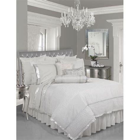 lush decor lux white  piece queen comforter set grey