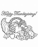 Cornucopia Coloring Pages Printable Thanksgiving Adult Sheets Fall Autumn Halloween Lineart Drawings Google Books Colouring Craft Drawing Basket Crafts Turkey sketch template