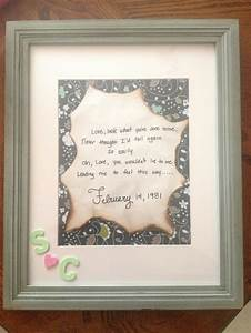 anniversary gift for my parents with the lyrics to their With diy wedding gifts for parents