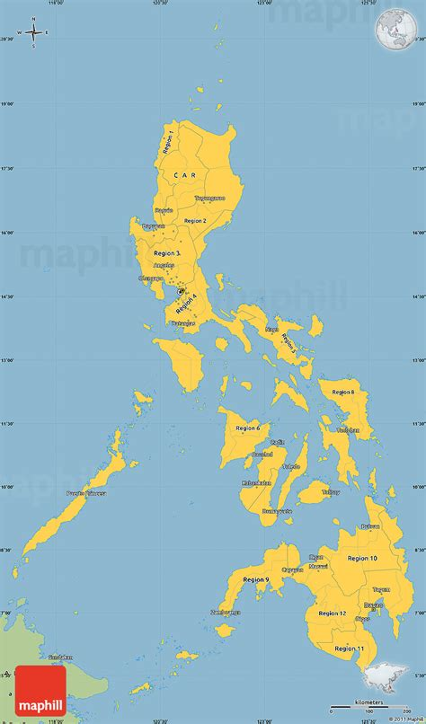 savanna style simple map  philippines
