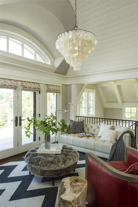 gorgeous living area  barrel vaulted ceilings