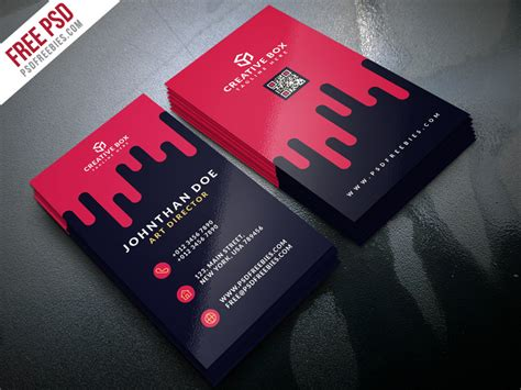 Creative Digital Agency Business Card Template Business Card Presentation Psd Free Vertical For Nail Salon Visiting Icons Freepik Template Download Design Your Own John Lewis Holders