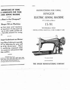 Instructions For Using  The Singer Manufacturing Company