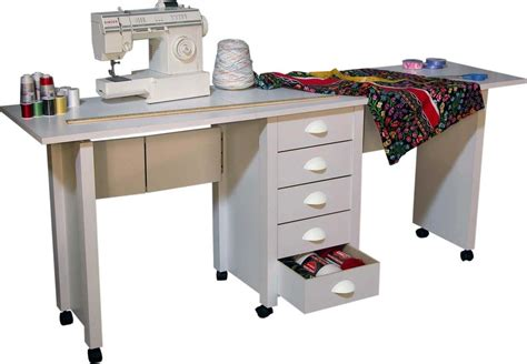 Fillable Craft Table L by Folding Mobile Desk Wheels Sewing Craft Table