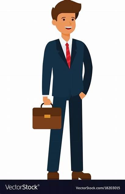 Cartoon Businessman Young Happy Flat Icon