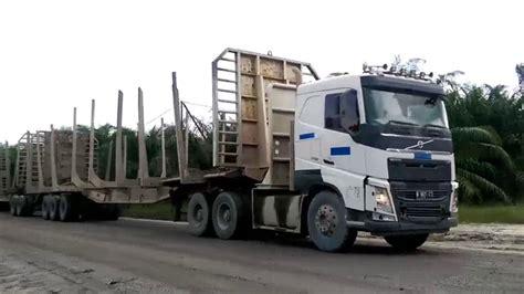 truck volvo  road train  indonesia youtube