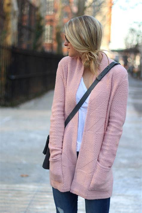 pink cardigan styled snapshots