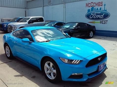 2017 Ford Mustang V6 Specs by 2017 Grabber Blue Ford Mustang V6 Coupe 114517709