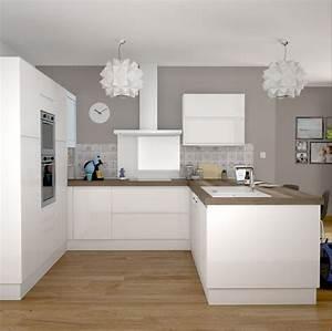 Ikea Cuisine Blanche : cuisine meuble bas de cuisine contemporain portes ch ne bross blanc mat porte cuisine sur ~ Melissatoandfro.com Idées de Décoration