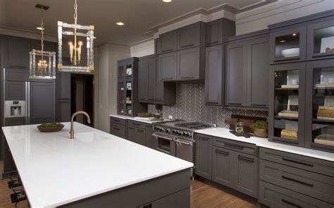 countertop ideas  gray kitchen cabinets