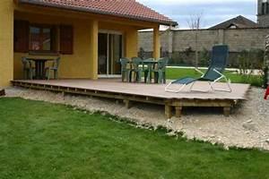terrasse composite sur plot r u00e9nover voir le sujet With maison bois sur plots 2 terrasse sur plots trelevern koateco construction