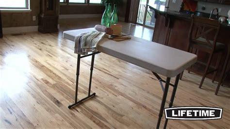 lifetime 4 ft table lifetime 4 ft adjustable folding table model 80161 youtube